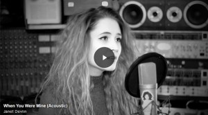 "Yahoo Music Premieres Janet Devlin's Acoustic Version of ""When You Were Mine"""