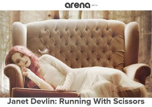 "Arena.com Reviews Janet Devlin's Debut Album ""Running With Scissors"""
