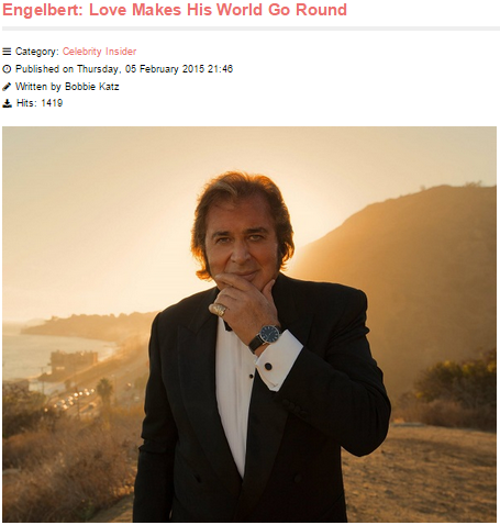 Vegas Insider Daily Interviews Engelbert Humperdinck