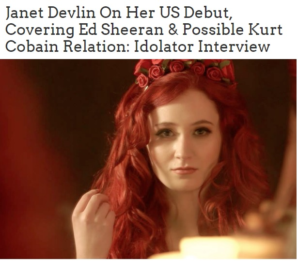Janet Devlin's Interview with Idolator