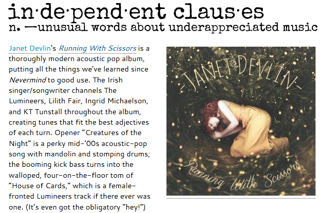 Independent Clauses Reviews Janet Devlin's