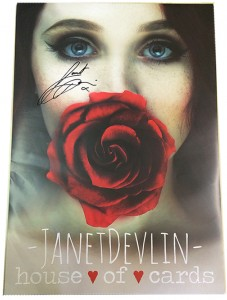 JANET DEVLIN - Signed 'House of Cards' Poster (Limited Edition)
