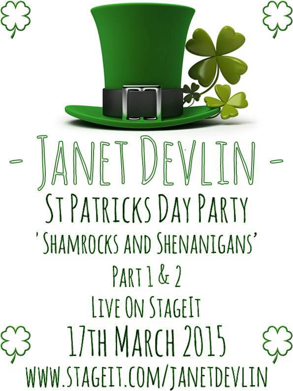 Celebrate St. Patrick's Day With Two Live Performances From Janet Devlin via Stageit