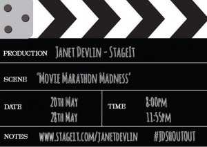 Janet Devlin's Upcoming 'Movie Marathon Madness' Stageit Performances
