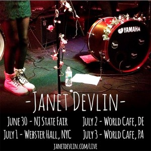 Janet Devlin Kicks Off Her U.S. East Coast Tour Tonight at the New Jersey State Fair