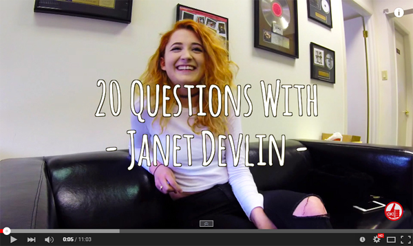20 Questions With Janet Devlin on YouTube