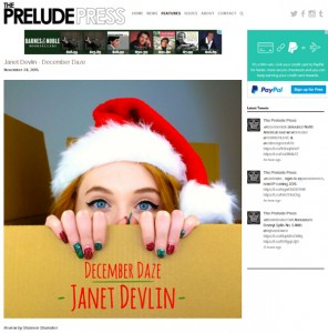 The Prelude Press Gives Janet Devlin's 'December Daze' 5/5 Review