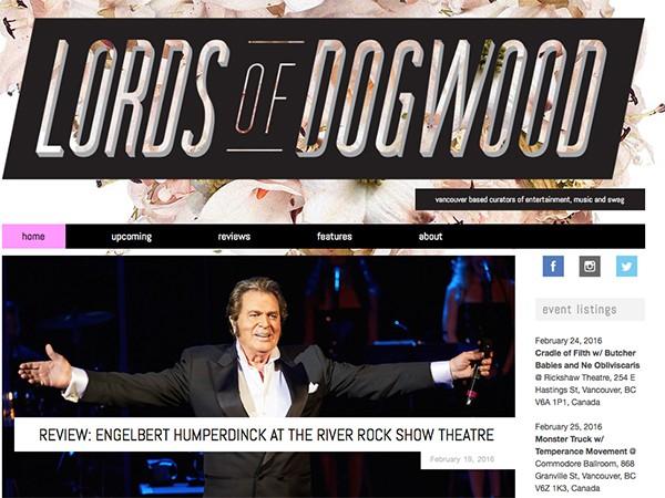 Lords of Dogwood Reviews Engelbert Humperdinck's River Rock Performance