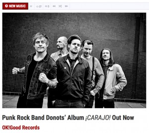 DONOTS' Album ¡CARAJO! Featured in The Spill Magazine