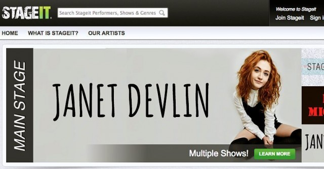 Don't Miss Janet Devlin's Upcoming Stageit Performances Thursday, May 26th