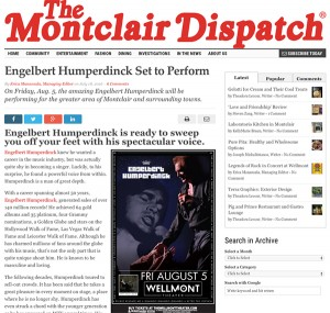 The Montclair Dispatch Featured Engelbert Humperdinck's Upcoming Performance