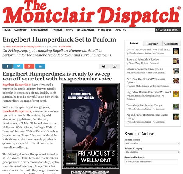 engelbert humperdinck - montclair dispatch