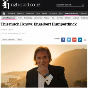 New Zealand Herald's This Much I Know: Engelbert Humperdinck
