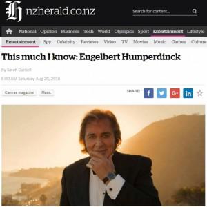 New Zealand Herald's This Much I Know: Engelbert Humperdinck
