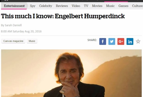 Engelbert Humperdinck - New Zealand Herald