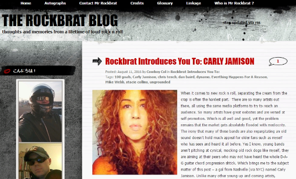 Rockbrat Introduces You To Carly Jamison