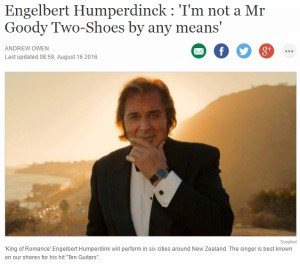 Engelbert Humperdinck : 'I'm Not a Mr Goody Two-Shoes By Any Means'