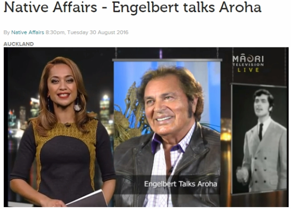 Engelbert Humperdinck Shares His True Love Secrets With Native Affairs