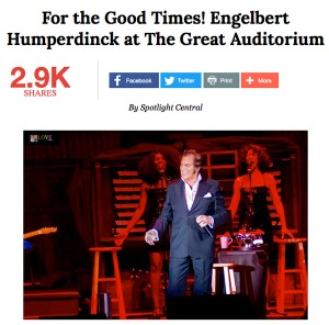 Engelbert Humperdinck Wows Fans With His Performance at The Great Auditorium