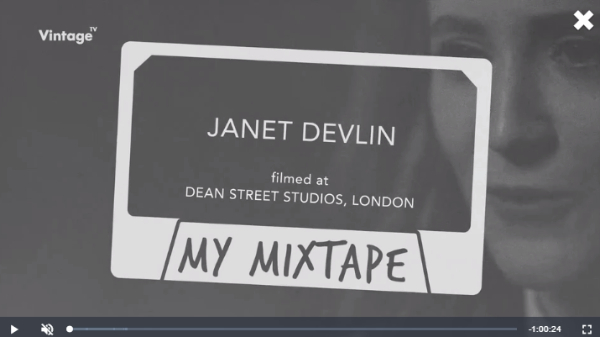 Watch Janet Devlin on Vintage TV's: My Mixtape