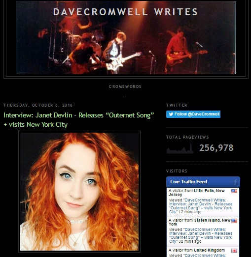 Check Out Janet Devlin's Interview With DaveCromwell Writes