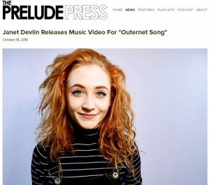 The Prelude Press Features Janet Devlin's 'Outernet Song'