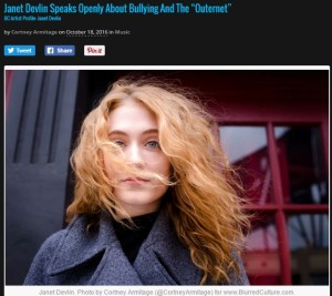 Janet Devlin's Exclusive Interview With Blurred Culture