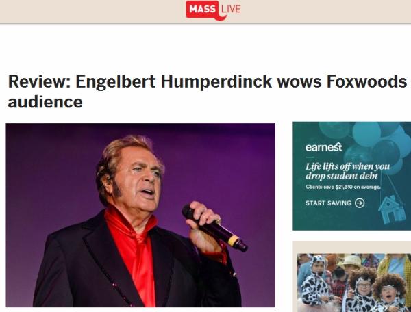 Engelbert Humperdinck Wows Foxwoods Audience