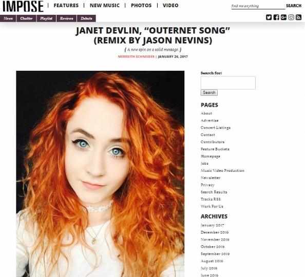 Impose Magazine - Janet Devlin