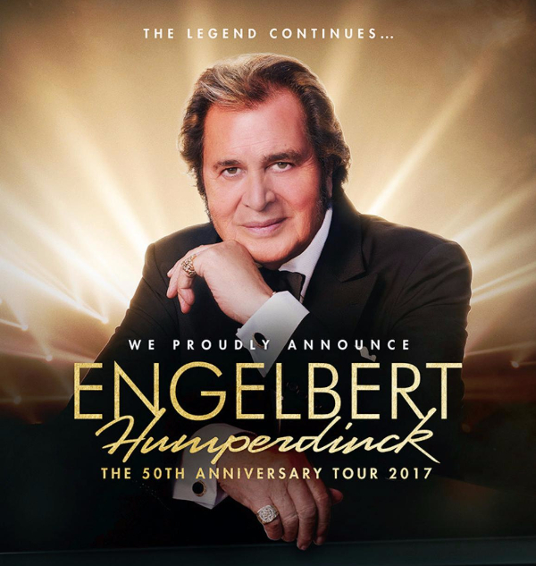 Engelbert Humperdinck's Upcoming 50th Anniversary Tour Dates