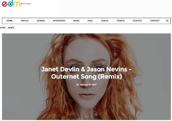 EDM Boutique Features Janet Devlin and Jason Nevins'