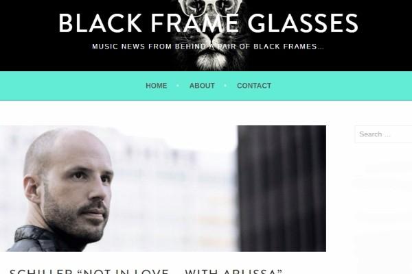 schiller - black frame glasses