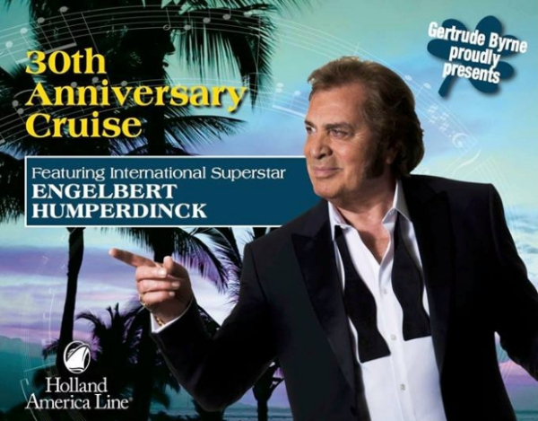 Engelbert Humperdinck to Perform on Gertrude Byrne's All Star Irish Charter Cruise