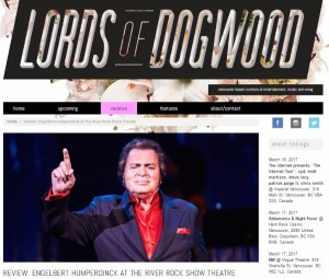 Lords of Dogwood Reviews Engelbert Humperdinck's Performance at The River Rock Show Theatre
