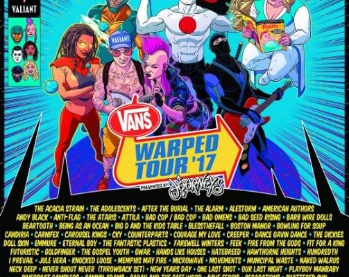 warped tour line up 2017