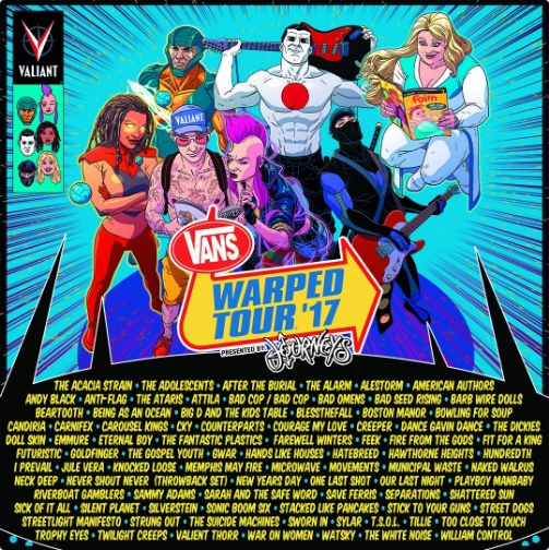 warped tour line up 2017