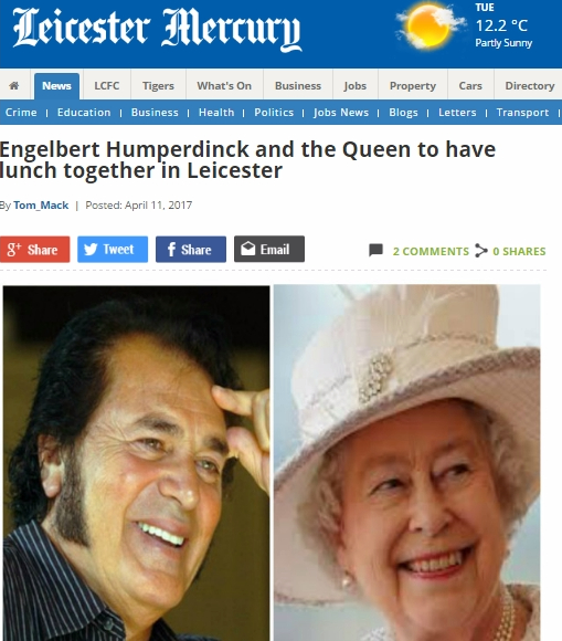 Engelbert Humperdinck to Meet Queen Elizabeth