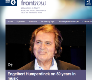 Engelbert Humperdinck Discusses 50 Years in the Music Industry With BBC Radio 4