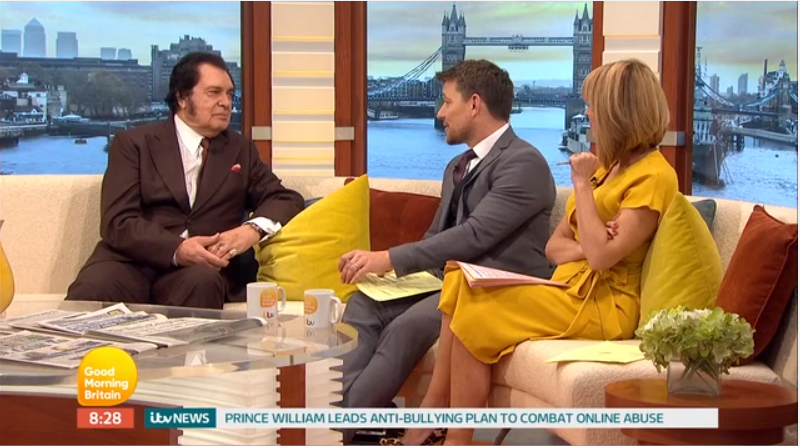 "Engelbert Talks 50th Anniversary of ""Release Me"" and More on Good Morning Britain"