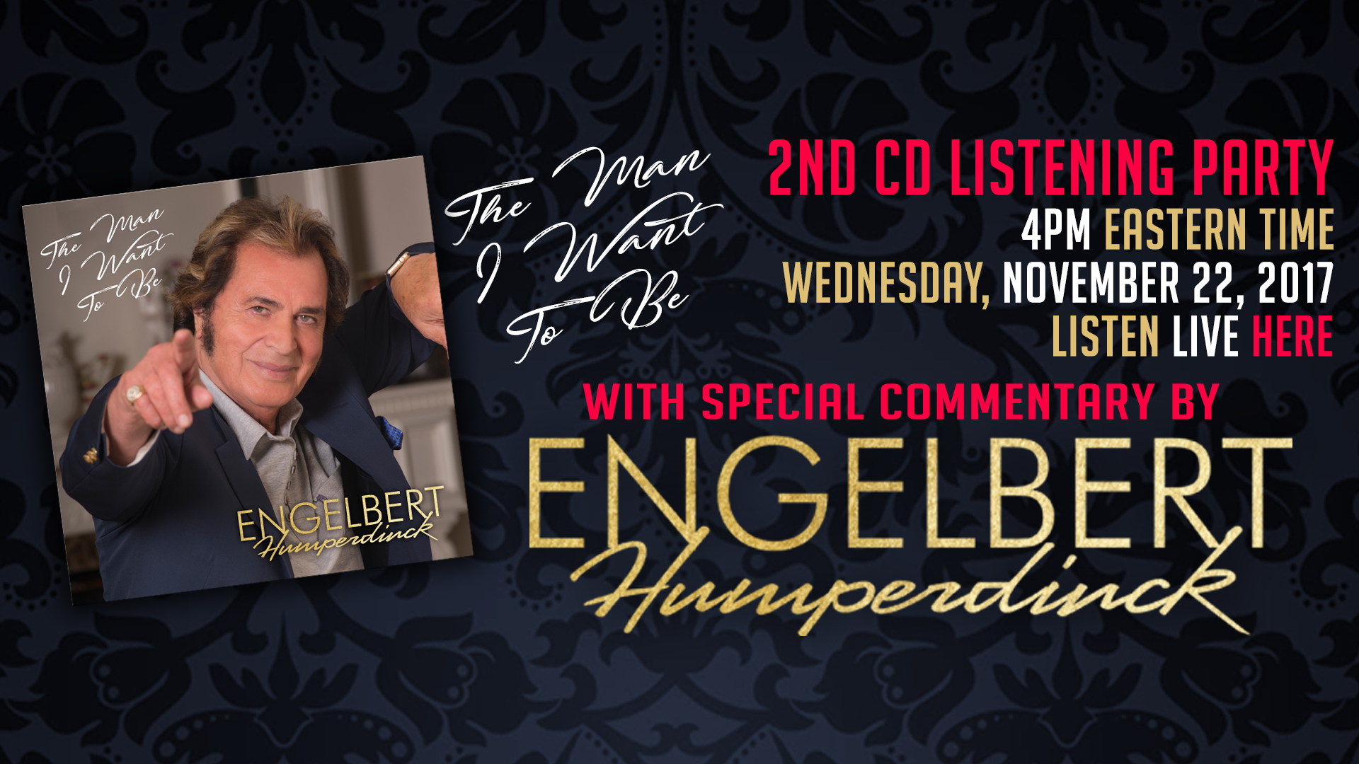 Engelbert Humperdinck To Share Song Commentary at Upcoming Listening Party!