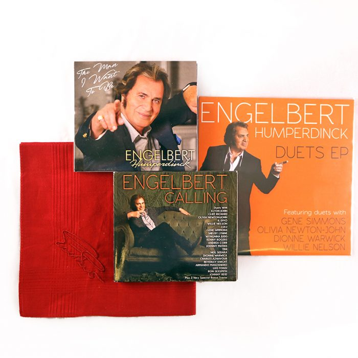 engelbert humperdinck holiday cd duets 7 inch vinyl the man i want to be signed handkerchief