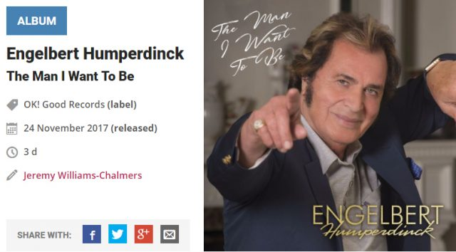 engelbert humperdinck music news the man i want to be album review ok good records absolute music decca records release me bruno mars ed sheeran
