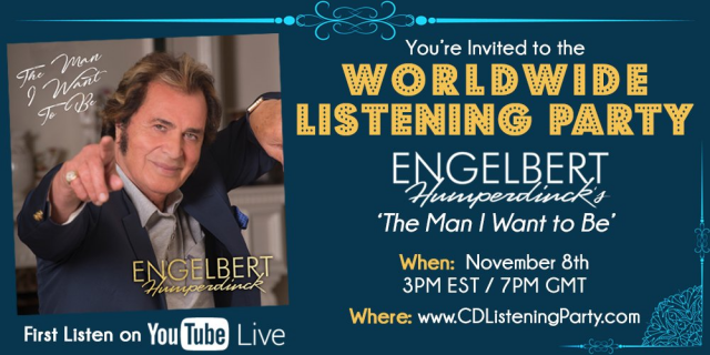 engelbert humperdinck worldwide listening party new album music the man i want to be ok good records decca records youtube livestream