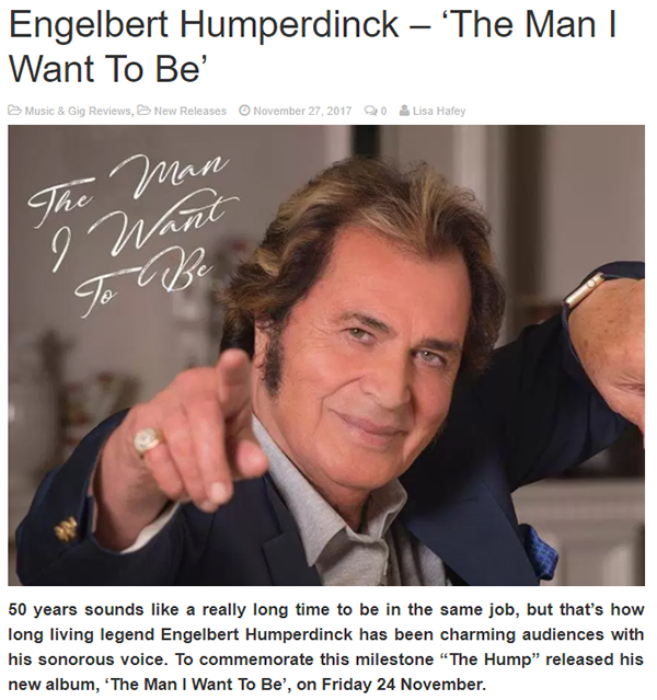 Essentially Pop Reviews Engelbert's 'The Man I Want to Be'