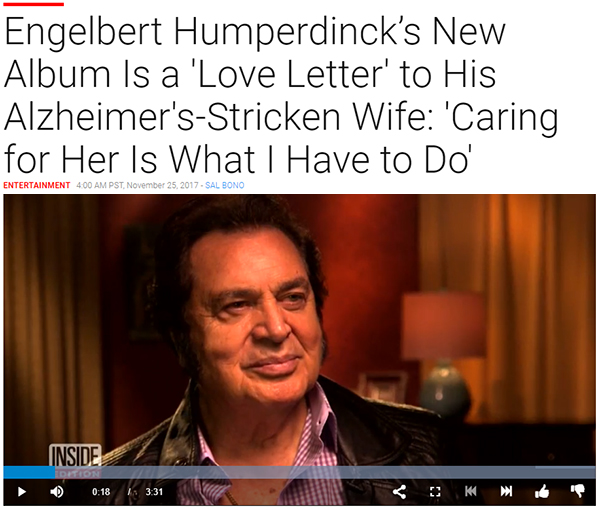 Engelbert Humperdinck Discusses His Wife's Battle With Alzheimer's with Inside Edition