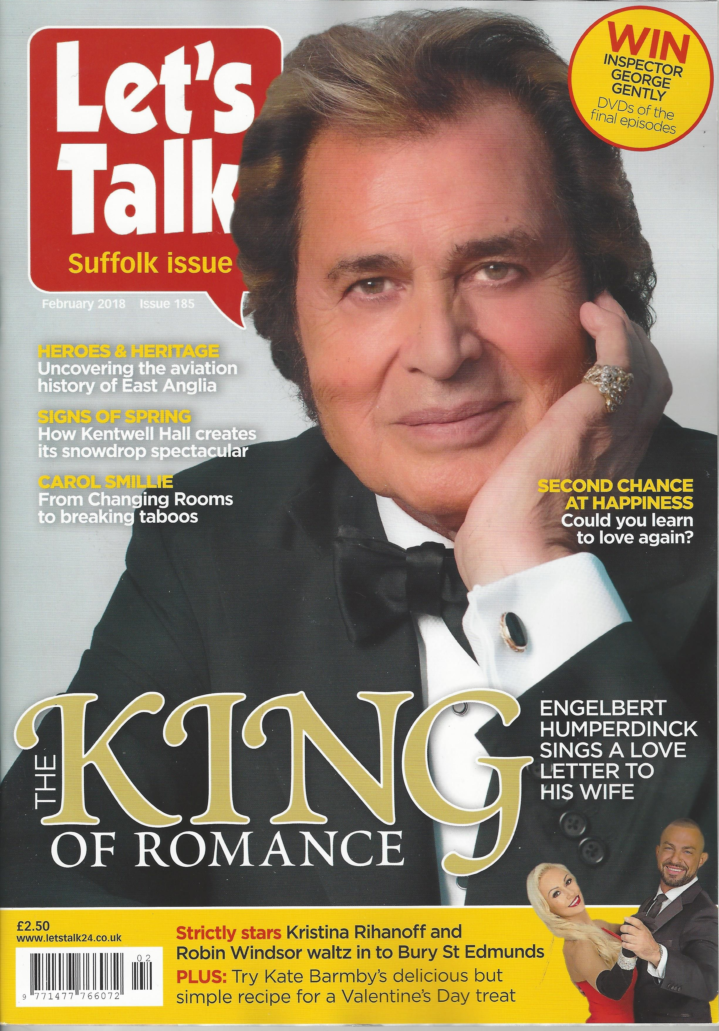 Let's Talk Magazine Features Engelbert Humperdinck on the Cover of February 2018 Issue