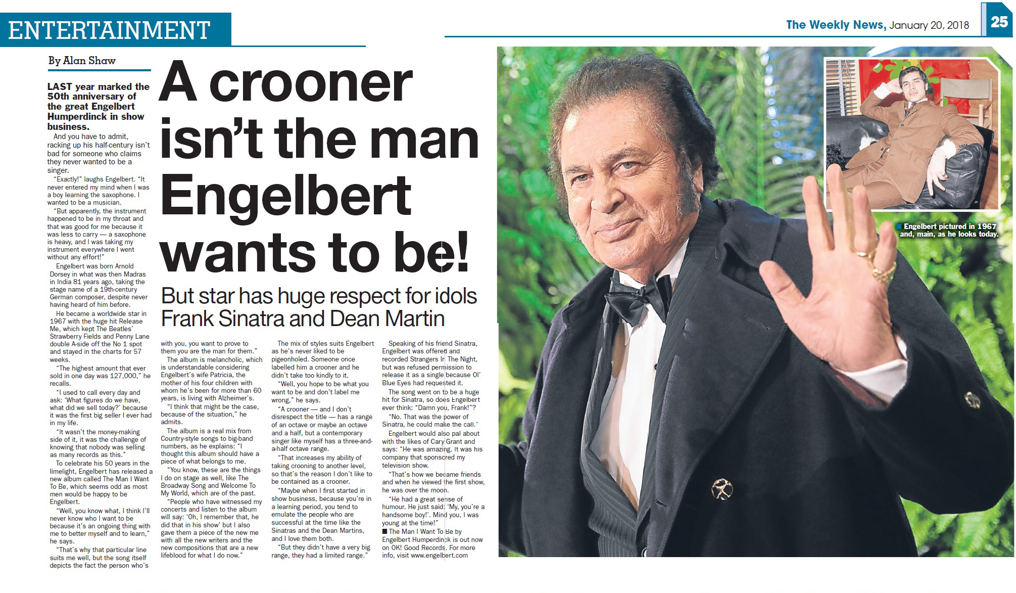 engelbert humperdinck the weekly news the man i want to be