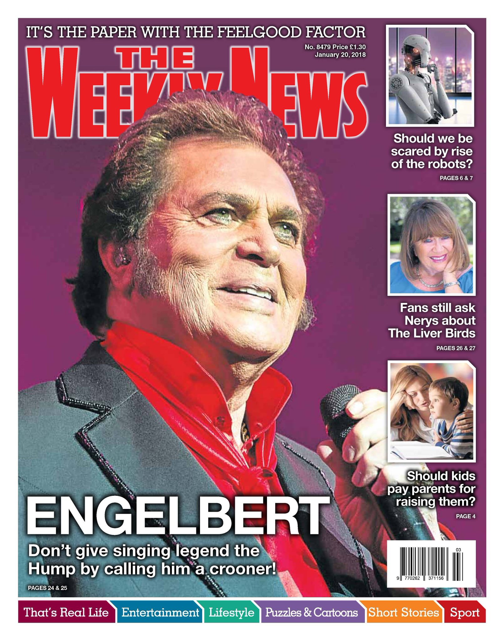 engelbert humperdinck the weekly news cover interview the man i want to be