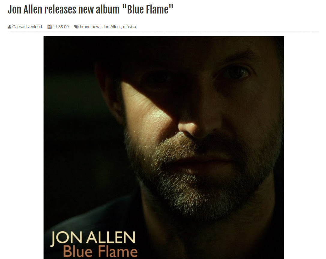 blue flame jon allen caesar live and loud
