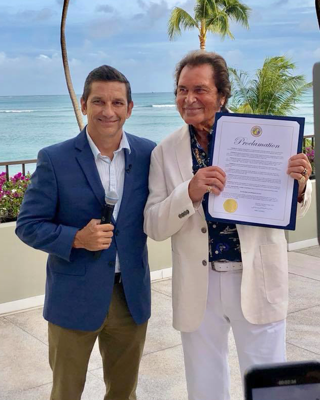 Did you know? Engelbert Humperdinck Day is now August 23rd in Honolulu!